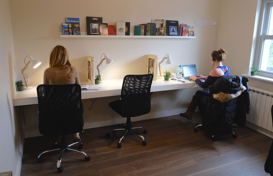 co-work at one workspace books at one louisburgh