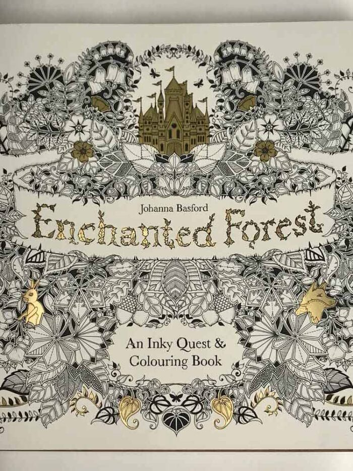 enchanted forest anInky quest and colouring book
