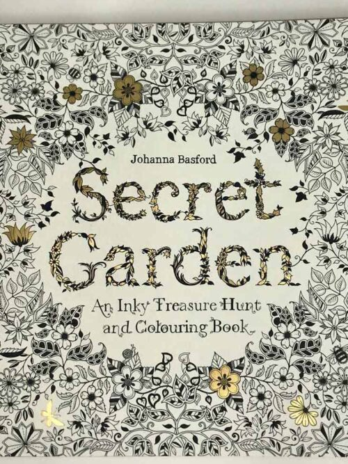secret garden inky teasure huntand colouring book