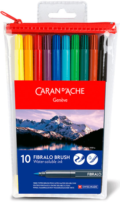 Caran-d-Ache-Fibralo-Brush-Fibre-Tipped-Brush-Pens